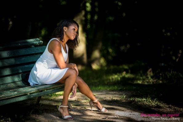 Shooting beauté pour Olivia Kouadio (Miss Cote-d'Ivoire 2013 en Italie) - Parc Meissonier à Poissy